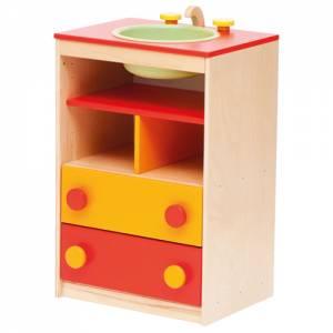 Spielküche | Spüle Rot/Gelborange