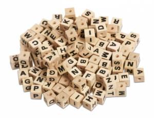 Holzperlen Buchstabenwürfel 300er Set