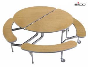 Ovaltisch mit 4 Sitzbänken (Standard)