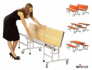 Tisch-Bank-Kombination mit 3-4 Sitzplätzen (Creative Colours)