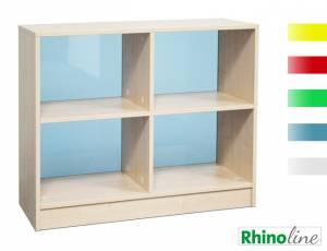 RhinoLine | Fächerschrank Acrylglas - 4 Fächer - Höhe 83,1 cm