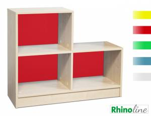 RhinoLine | Fächerschrank Acrylglas - 3 Fächer - Höhe 83,1 cm