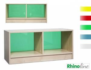 RhinoLine | Fächerschrank Acrylglas - 2 Fächer - Höhe 47,1 cm