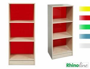 RhinoLine | Fächerschrank Acrylglas - 3 Fächer - Höhe 119,1 cm