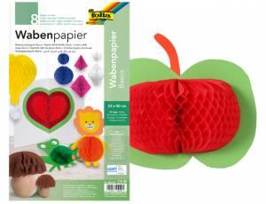 Wabenpapier Uni 33 x 40 cm - 8 Bogen in 8 Farben