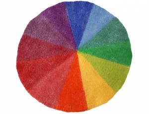 Bauspiel Farbkreis | Filzteppich Regenbogen Ø 52 cm