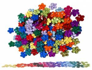 Bauspiel Farbkreis | Funkelsteine Blume Ø 2,5 cm - 120er Set