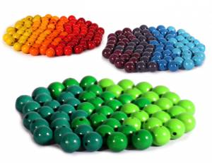 Bauspiel Farbkreis | Holzperlen bunt Ø 2,0 cm - 240er Set