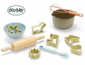 Dantoy BIOplastic Sandspielzeug | Kinderküche Backset 11 Teile