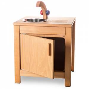 Kinderküche Buche | Spüle mit Waschbecken