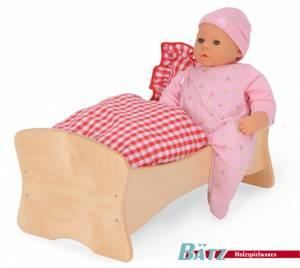 Bett-Wiege-Kombination für Puppen