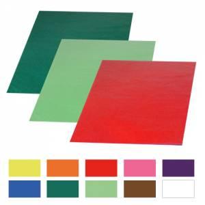 Transparentpapier 70 x 100 cm   25 Bogen in 10 Farben