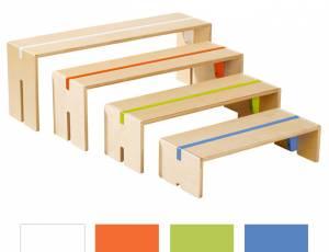 Sitzbänke 4er Set | Birke Multiplex