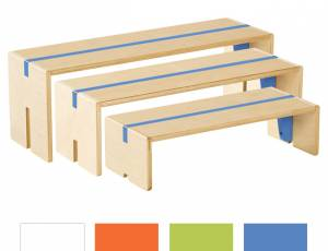 Sitzbänke 3er Set | Birke Multiplex