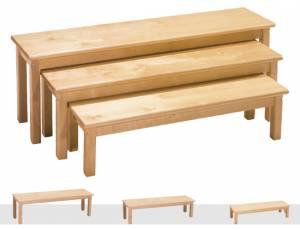 Sitzbänke 3er Set | Birke massiv