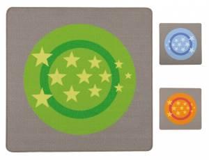 Spielteppich 100 x 100 cm | Hip Hop Quadrat - Sterne