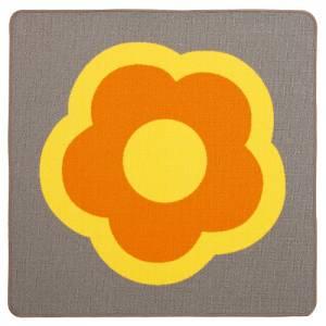 Spielteppich 100 x 100 cm | Hip Hop Quadrat - Blume