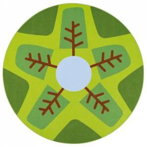 Spielteppich Ø 200 cm | Rundteppich Wald