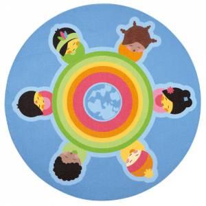Spielteppich Ø 200 cm | Rundteppich Kinder der Welt