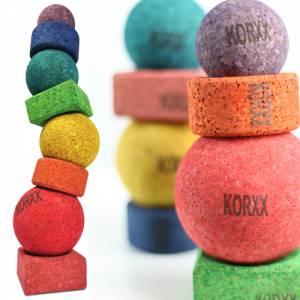 KORXX Limbo - Stapelturm bunt   Bausteine aus Kork