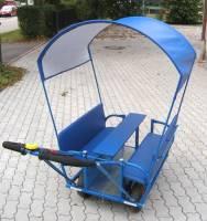 Kindertransportwagen - Ausflugswagen Krippe | Sonnen- & Regendach