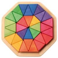 Farbige Bausteine - Achteck Legespiel 33-teilig