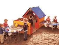 Spielhaus Tricolor mit Veranda