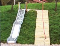 Stahlrutsche mit Welle | Rutschbreite 50 cm