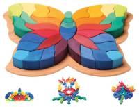 Farbige Steine - Schmetterling 38-teilig