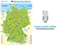 Deutschlandkarte 70 x 100 cm