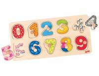 Steckpuzzle Lerne zählen, 10-teilig