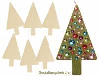 Holzanhänger Tannenbaum 6er Set