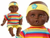 Babypuppe 32 cm mit Shorts, Shirt und Stirnband