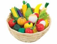 Kinderküche - Obst- und Gemüsekorb, 23-teilig