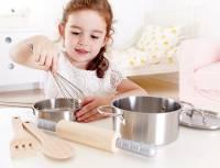 Kinderküche - Hape Kochset Holz & Edelstahl 7-teilig