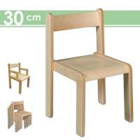 Stapelstuhl Timmi, Sitzhöhe 30 cm | Kinderstuhl