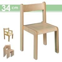 Stapelstuhl Timmi, Sitzhöhe 34 cm | Kinderstuhl