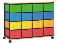 Materialcontainer mit 16 hohen Schüben