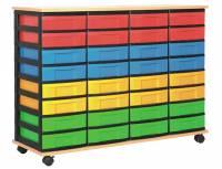 Materialcontainer mit 32 flachen Schüben | 4-reihig