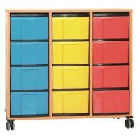 Materialcontainer mit 12 hohen Schüben