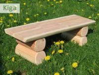 Douglasie Sitzbank ohne Lehne - Kindergarten