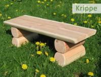 Douglasie Sitzbank ohne Lehne - Krippe U3