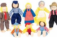 Puppenhaus Bauernfamilie | 8-teilig