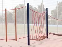 Seil- und Klettergarten Stahl - Komplettanlage