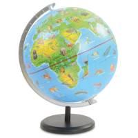 Globus Ø 23 cm | Mit Tier-Illustrationen