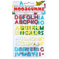 Sticker Moosgummi Glitter - Buchstaben 100-teilig