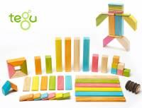 Tegu Magnetische Holzbausteine Farbig | 42 Teile
