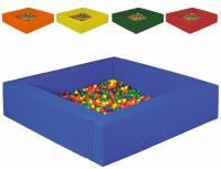 Kugelbad Quadrat 225 x 225 cm | 5-teilig