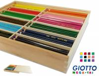 Giotto Mega Tri Holzbox | 144 Dreikantstifte