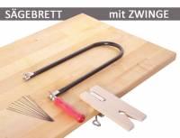 Laubsägebrett mit Zwinge